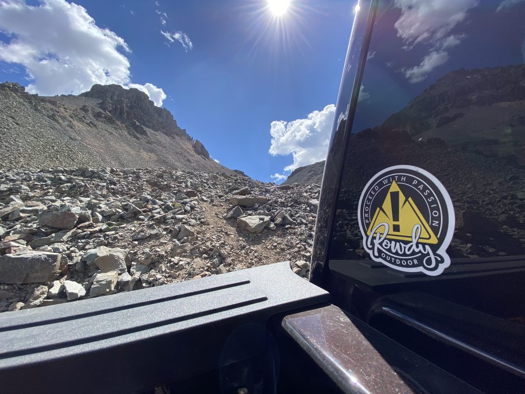 Colorado high elevation passes - Rowdy Outdoor sticker