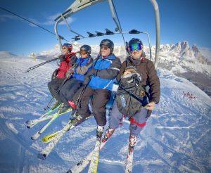 Skiing in the Dolomites Ski Club group