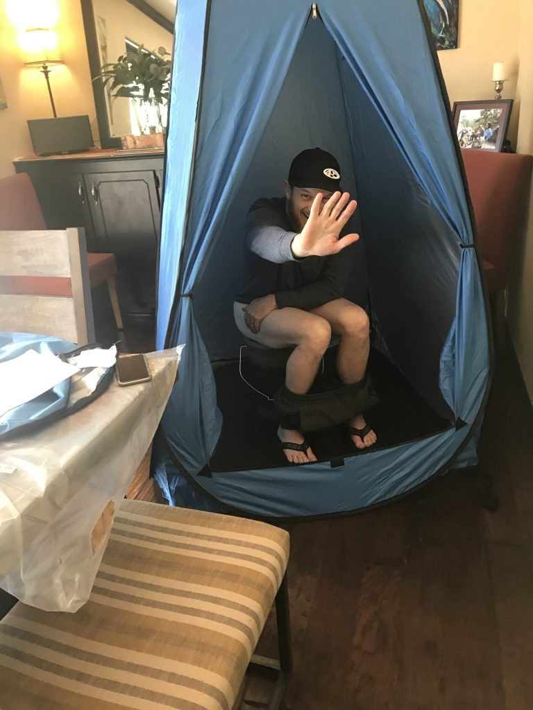 Hunter's Loo and Potty Tent Testing