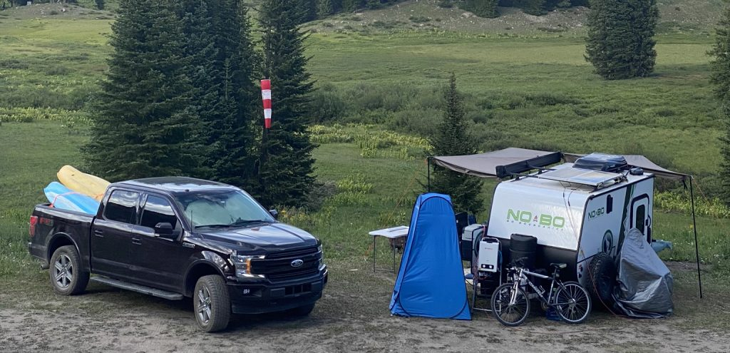 Dry camping set up at high elevation - Colorado - Rowdy Outdoor