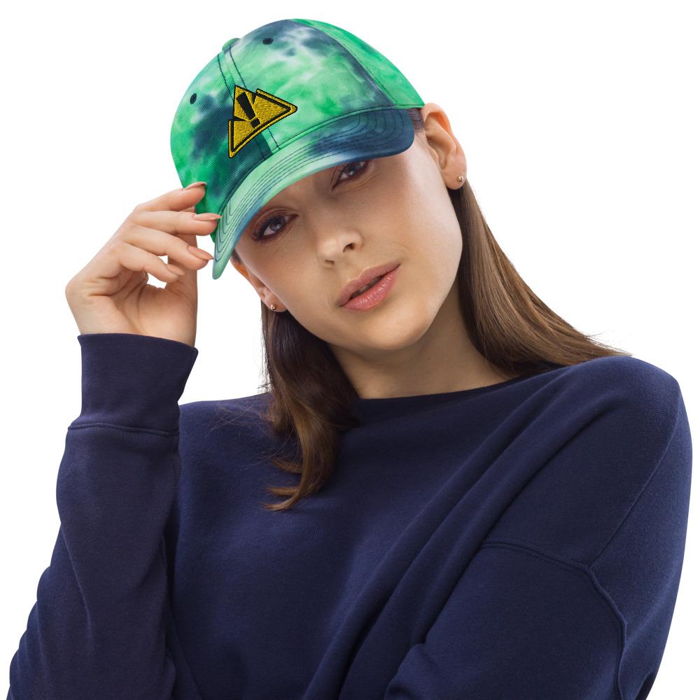 Tie Dye Ocean Front Hat - Rowdy Outdoor Logo - Woman