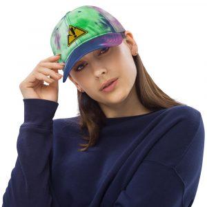 Tie Dye Purple Passion Front Hat - Rowdy Outdoor Logo WOman