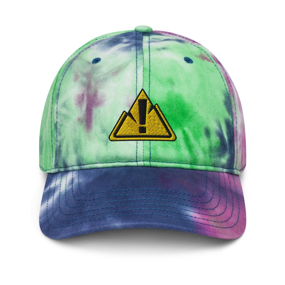 Tie Dye Purple Passion Front Hat - Rowdy Outdoor Logo