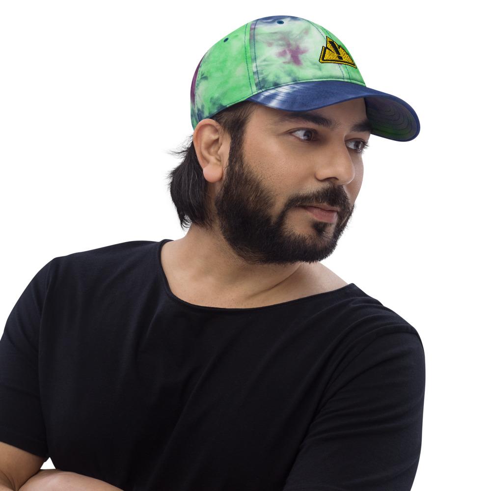 Tie Dye Ocean Front Hat - Rowdy Outdoor Logo - Man