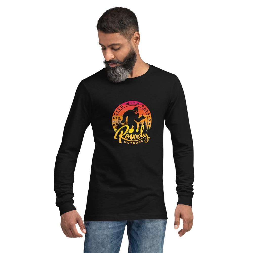 Masked Shaka Sign Sasquatch - Bigfoot COVID Long-Sleeve T-Shirt - Black