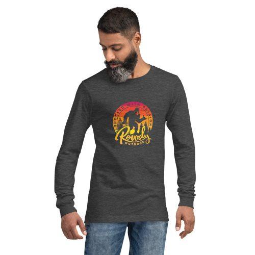 Masked Shaka Sign Sasquatch - Bigfoot COVID Long-Sleeve T-Shirt - Dark Grey Heather