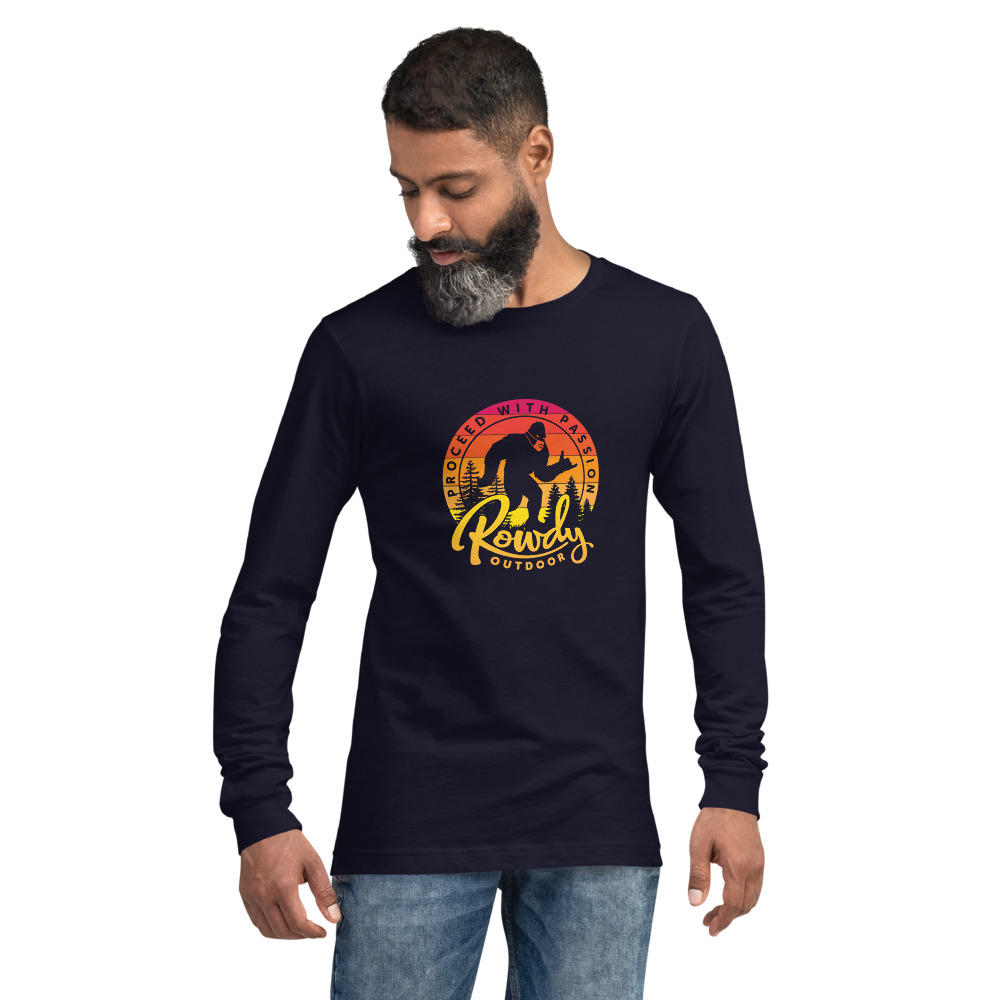 Masked Shaka Sign Sasquatch - Bigfoot COVID Long-Sleeve T-Shirt - Navy