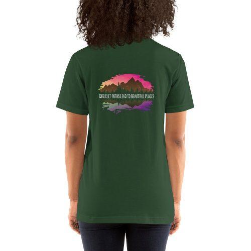 Difficult Paths Mountain T-Shirt - Rowdy Outdoor Women - Forest Green