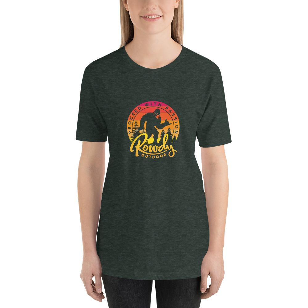 Masked Shaka Sign Sasquatch - Bigfoot COVID T-Shirt- Dark Gray