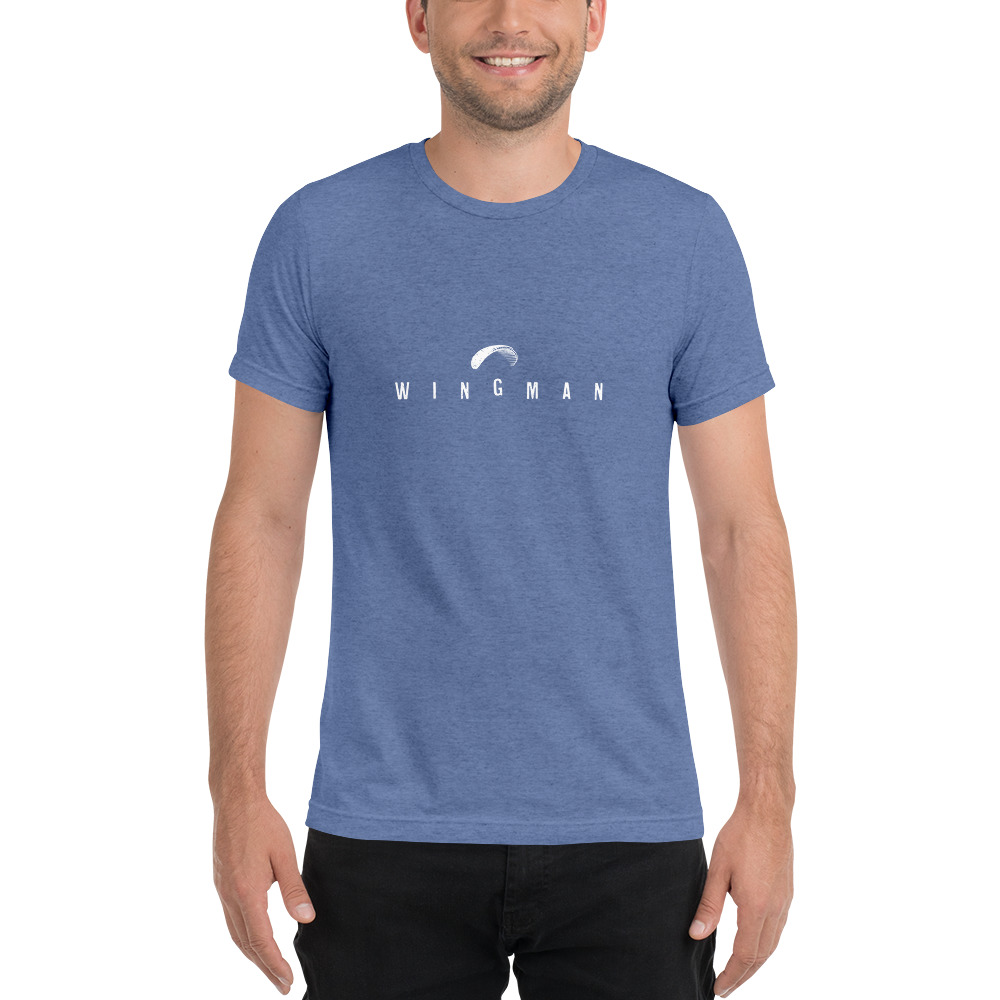 Wingman - Rowdy Outdoor - Short Sleeve Tee - Blue Triblend