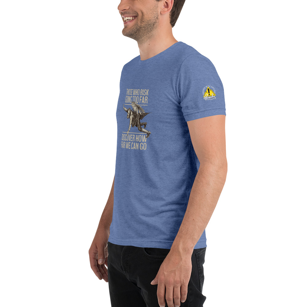 Blue - Those Who Risk Going Too Far Discover Vintage Flyer Tee