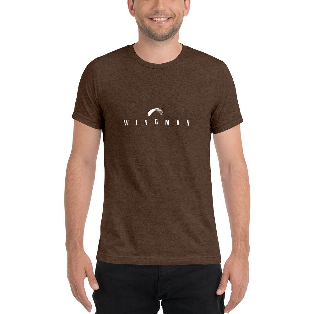 Wingman - Rowdy Outdoor - Short Sleeve Tee - Triblend Brown