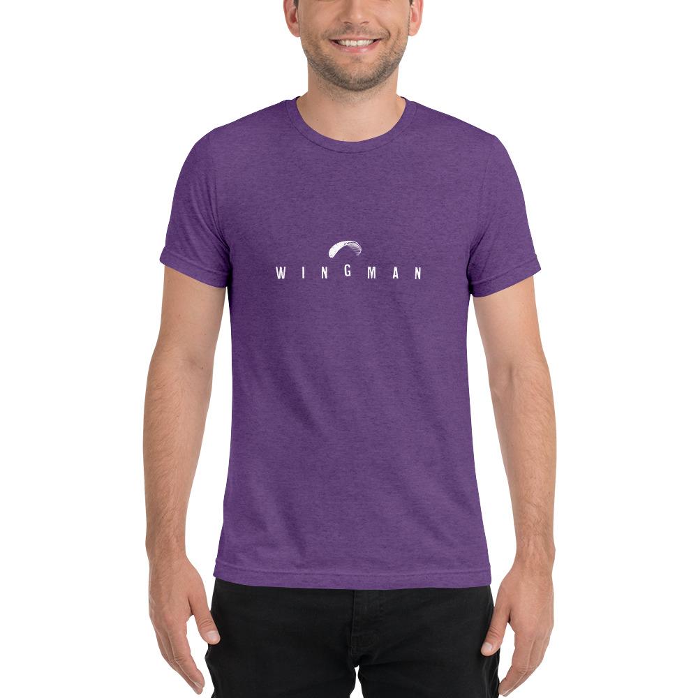 Wingman - Rowdy Outdoor - Short Sleeve Tee - Triblend Purple