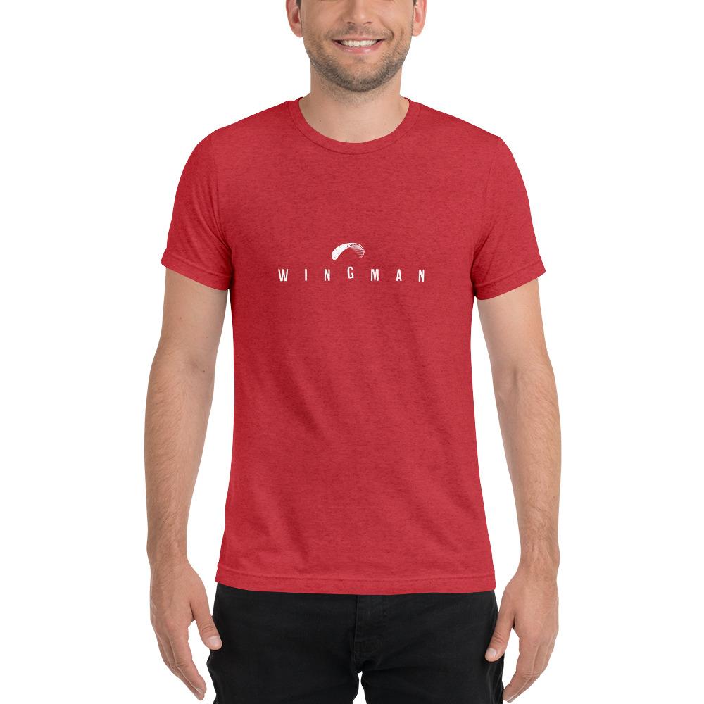 Wingman - Rowdy Outdoor - Short Sleeve Tee - Triblend Red