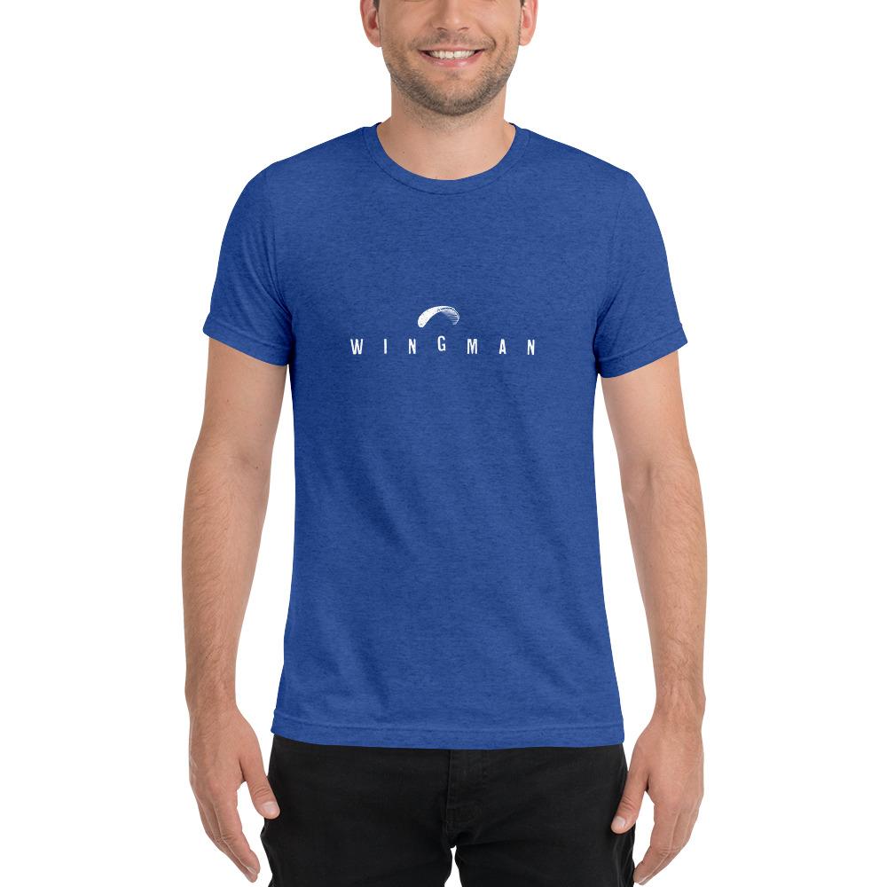 Wingman - Rowdy Outdoor - Short Sleeve Tee - Triblend Royal Blue