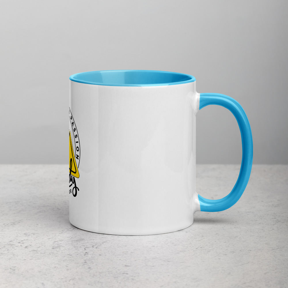 Rowdy Outdoor Mug - Color on the Inside - Teal