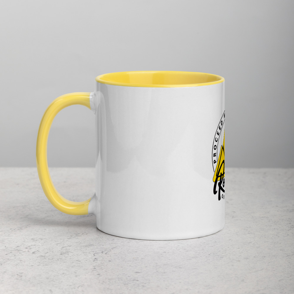 Rowdy Outdoor Mug - Color on the Inside - Yellow
